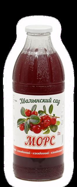 Морс натуральный клюквенный Хвалынский сад™, 1 литр
