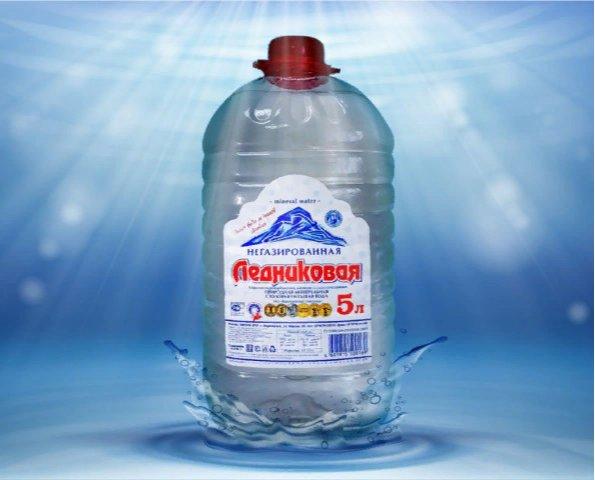 Вода минеральная негазированная Ледниковая (ПЭТ, 5л)