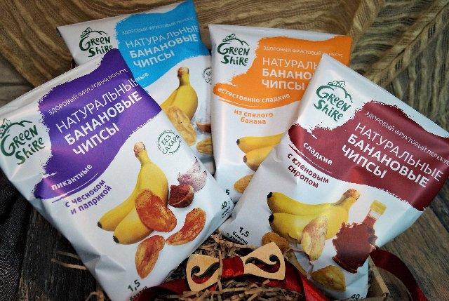 Натуральные банановые чипсы