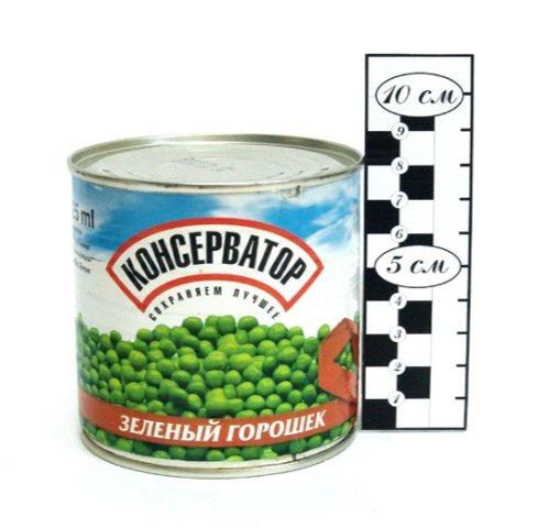 Горошек зелёный КОНСЕРВАТОР ГОСТ в/с 425 мл