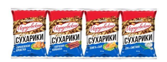 ТМ «Мордовские» Ржано-пшеничные сухарики. (30гр. | 60 гр).