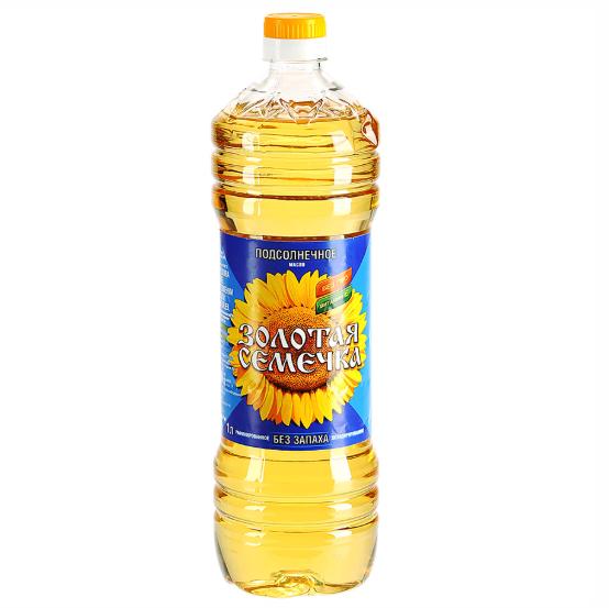 Масло подсолнечное Золотая семечка 1 л