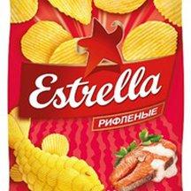 Чипсы Estrella картофельные рифленые