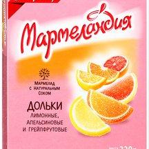 "Мармелад Ударница ""Мармеландия"" дольки 3 вкуса"