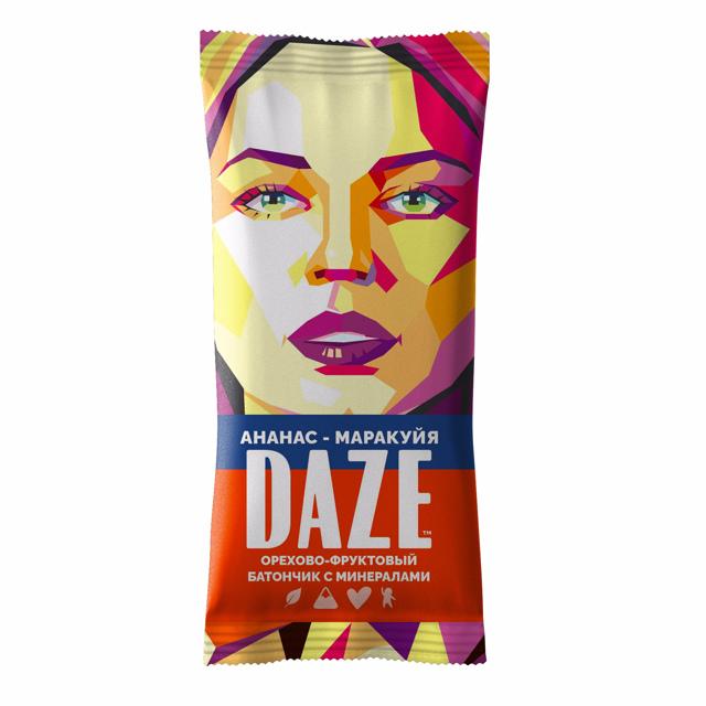 DAZE Ананас - маракуйя орехово - фруктовый батончик