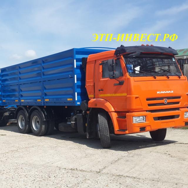 КАМАЗ 65115 зерновоз 32 куб.м