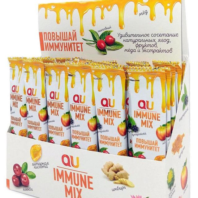 Смесь меда с фруктами и экстрактами для иммунитета