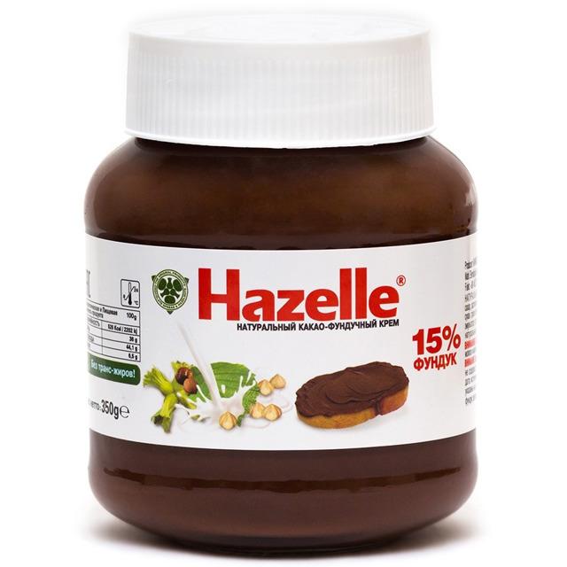 Крем Орехово-шоколадный 15% HAZELLE, 350 г