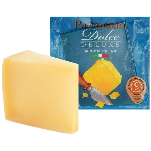 Сыр твердый Пармезан Dolce Deluxe 34% 200 г