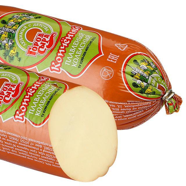 Продукт Город сыра плавленый колбасный копченый 40%, 500