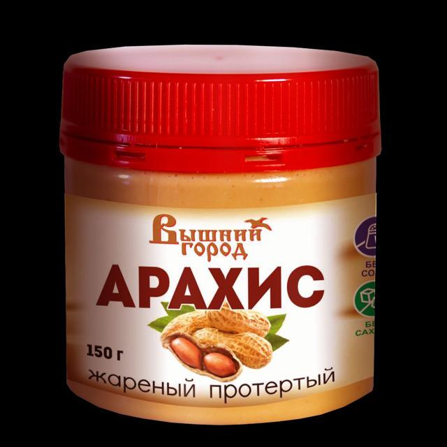 """Арахис жаренный протертый """"Вышний город"""", 150г"""