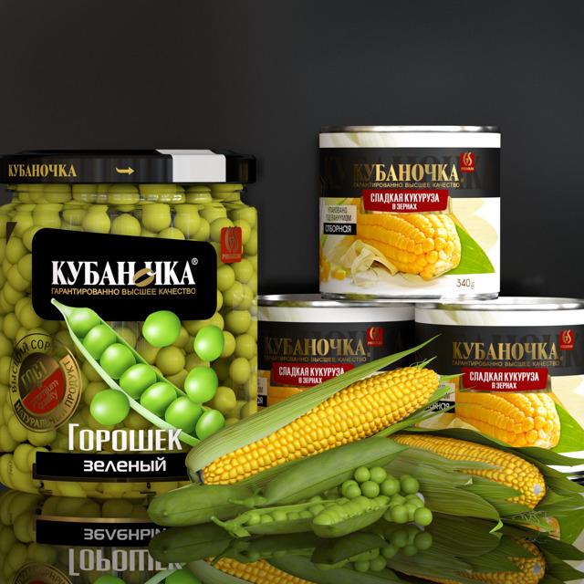 горошек и кукуруза