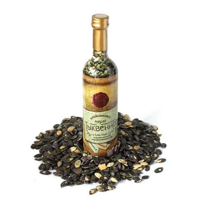 Тыквенное масло из голосемянной штирийской тыквы