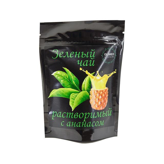 Зеленый чай, растворимый, без сахара, 80г