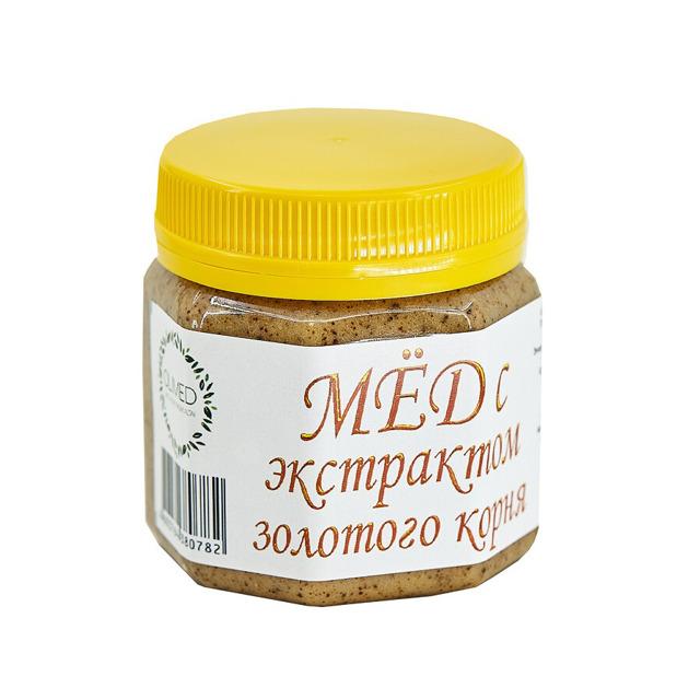 МЕД алтайский, с экстрактом золотого корня, 250 г